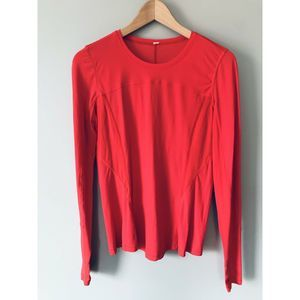Lululemon Runbeam Long Sleeve Top 4 Small Love Red